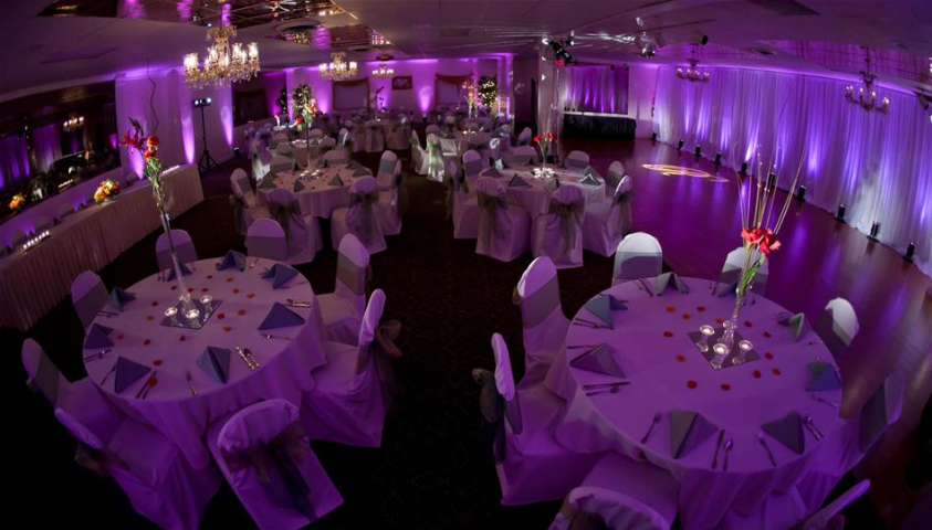 Purple lighting gives your event a royal edge