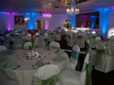 Purple & Blue Uplights really add character to an event!