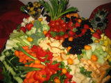 Fruit Vegetable And Cheese Tray