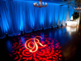 Adding your initials to the dance floor can really customzie your event
