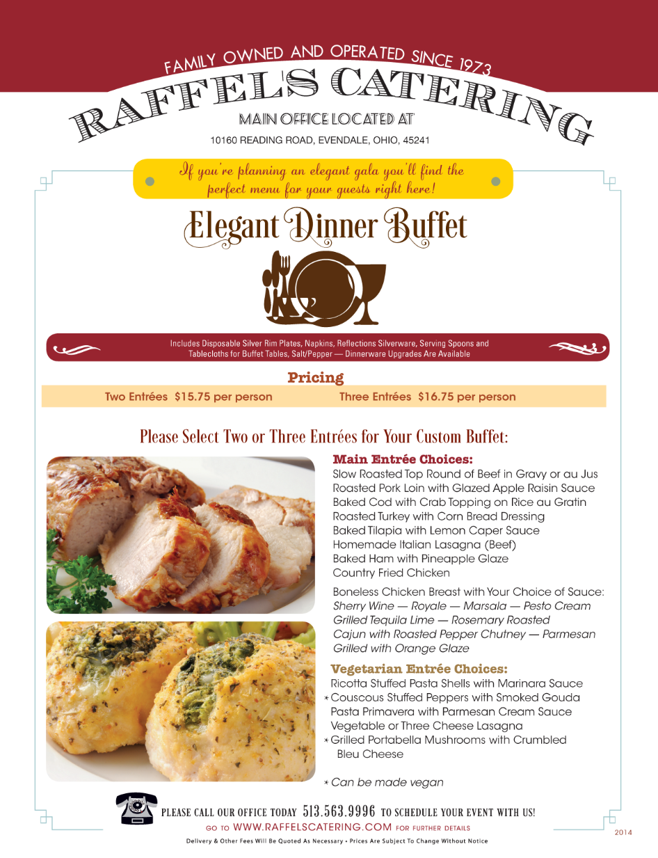 Elegant Dinner Buffet at Your Location