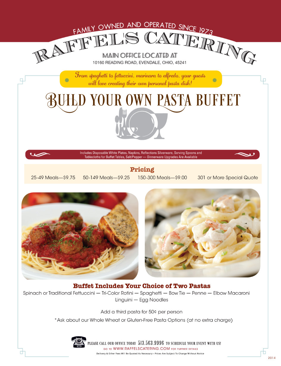 Build Your Own Pasta Buffet