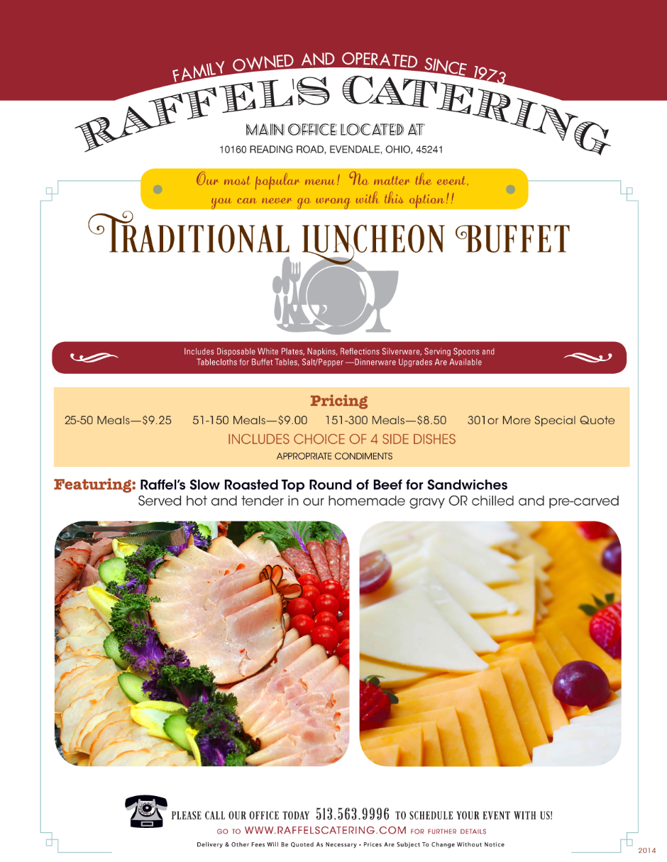 Traditional Luncheon Buffet